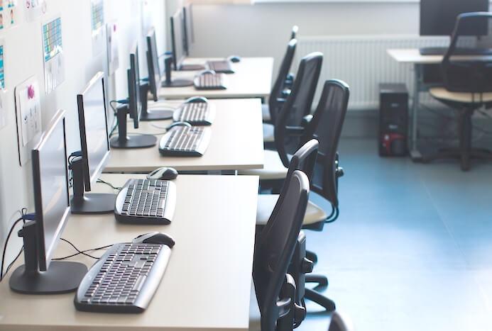 PC室、パソコン室のシックハウス検査